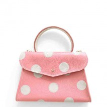 'Chantilly Petit' Pois Sac à main Cuir Nappa Rose & Or