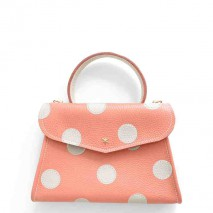 'Chantilly Petit' Pois Nappa Leather dots handbag Watermelon & Gold