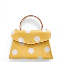 'Chantilly Petit' Pois Nappa Leather dots handbag Yellow & Gold