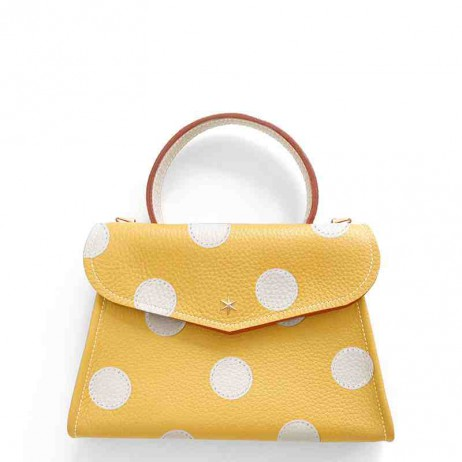 'Chantilly Petit' Pois Sac à main Cuir Nappa Miel & Or