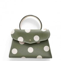 'Chantilly Petit' Pois Sac à main Cuir Nappa Taiga & Or