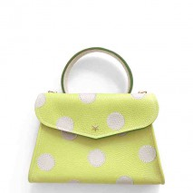 'Chantilly Petit' Pois Sac à main Cuir Nappa Paille & Or