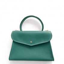 'Chantilly Petit' Sac à main Cuir Nappa Vert Pin & Or