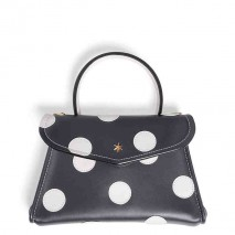 'Chantilly Soie' Pois Nappa Leather dots handbag Volcan & Gold