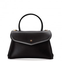 'Chantilly Silk' Leather handbag Black & Gold