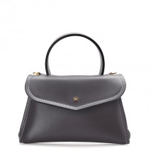 'Chantilly Silk' Leather handbag Dark grey & Gold