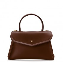 'Chantilly Silk' Leather handbag Chocolate & Gold