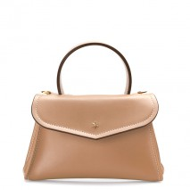 'Chantilly Silk' Leather handbag Taupe & Gold
