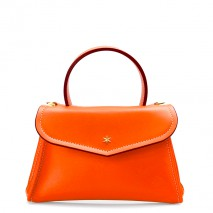 'Chantilly Soie' Sac à main Cuir Orange & Or