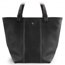 'Châtelet Grand' Sac Cabas Cuir Nappa Noir & Or Grand