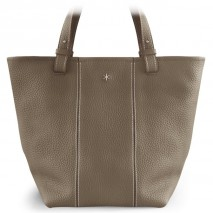 'Châtelet Grand' Nappa Leather Tote bag Warm Grey & Silver Grand