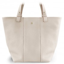 'Châtelet Grand' Sac Cabas Cuir Nappa Crème & Or Grand