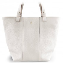 'Châtelet Grand' Sac Cabas Cuir Nappa Blanc & Or Grand