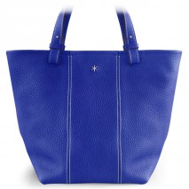 'Châtelet Grand' Nappa Leather Tote bag Deep Blue & Silver Grand