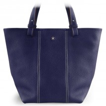 'Châtelet Grand' Nappa Leather Tote bag Dark Blue & Silver Grand