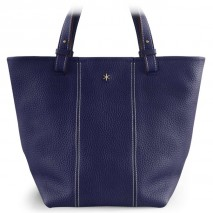 'Châtelet Grand' Nappa Leather Tote bag Dark Blue & Gold Grand