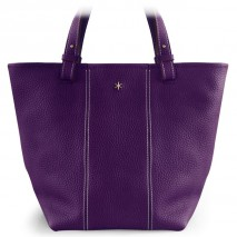 'Châtelet Grand' Nappa Leather Tote bag Dark Purple & Gold Grand