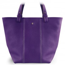 'Châtelet Grand' Sac Cabas Cuir Nappa Violet & Or Grand