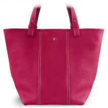 'Châtelet Grand' Sac Cabas Cuir Nappa Fuchsia & Or Grand