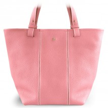 'Châtelet Grand' Sac Cabas Cuir Nappa Rose Pâle & Or Grand