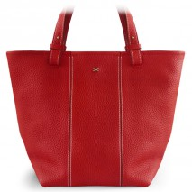 'Châtelet Grand' Sac Cabas Cuir Nappa Rouge & Or Grand