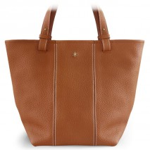 'Châtelet Grand' Sac Cabas Cuir Nappa Cognac & Or Grand
