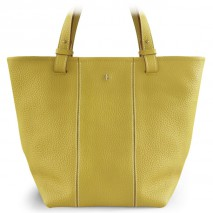 'Châtelet Grand' Sac Cabas Cuir Nappa Citron Vert & Or Grand