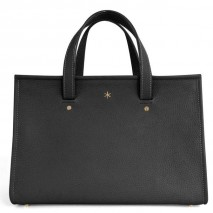 'Chantilly Petit' Nappa Leather handbag Black & Gold Petit