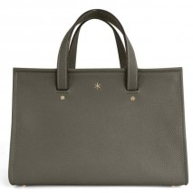 'Saint Louis' Nappa Leather handbag Dark Grey & Gold Grand