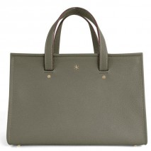 'Saint Louis' Nappa Leather handbag Elephant Grey & Gold Grand