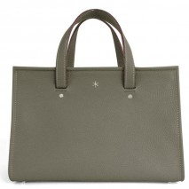 'Saint Louis' Nappa Leather handbag Elephant Grey & Silver Grand