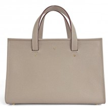 'Saint Louis' Nappa Leather handbag Warm Grey & Gold Grand