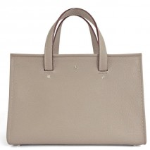 'Saint Louis' Nappa Leather handbag Warm Grey & Silver Grand