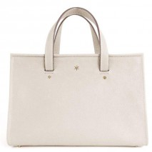 'Saint Louis' Nappa Leather handbag Cream & Gold Grand