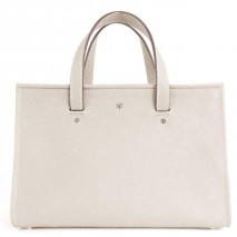 'Saint Louis' Nappa Leather handbag Cream & Silver Grand