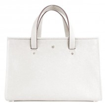 'Saint Louis' Nappa Leather handbag White & Silver Grand