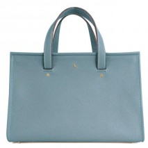 'Saint Louis' Nappa Leather handbag Glacier & Gold Grand