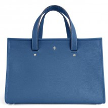 'Saint Louis' Nappa Leather handbag Satin Blue & Silver Grand