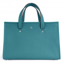'Saint Louis' Nappa Leather handbag Indigo & Silver Grand