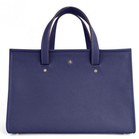 'Saint Louis' Nappa Leather handbag Dark Blue & Gold Grand