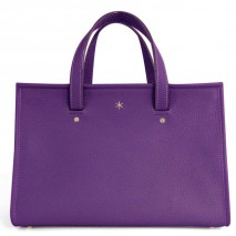 'Saint Louis' Sac à main Cuir Nappa Violet & Or Grand