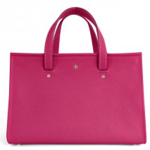 'Saint Louis' Sac à main Cuir Nappa Fuchsia & Or Grand