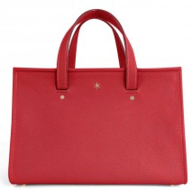 'Saint Louis' Sac à main Cuir Nappa Rouge & Or Grand