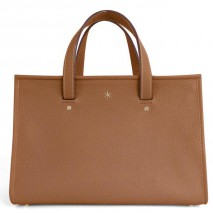 'Saint Louis' Sac à main Cuir Nappa Cognac & Or Grand