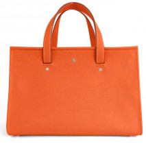 'Saint Louis' Sac à main Cuir Nappa Orange & Argent Grand