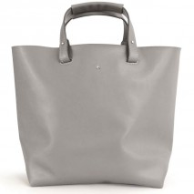 'Batignolles Grand' Leather Tote bag Light Grey & Silver Grand