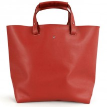 'Batignolles Grand' Leather Tote bag Red & Silver Grand