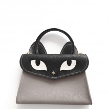 'Chantilly Le Chat Petit' Nappa Leather handbag Pearl Grey