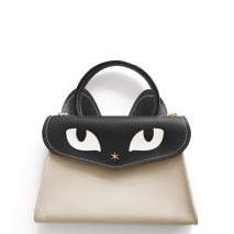 'Chantilly Le Chat Petit' Nappa Leather handbag Cream