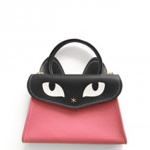 'Chantilly Le Chat Petit' Nappa Leather handbag Rose